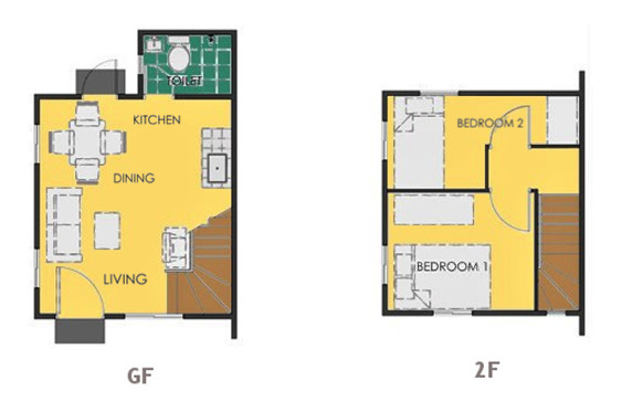 Ravena Floor Plan House and Lot in Tacloban