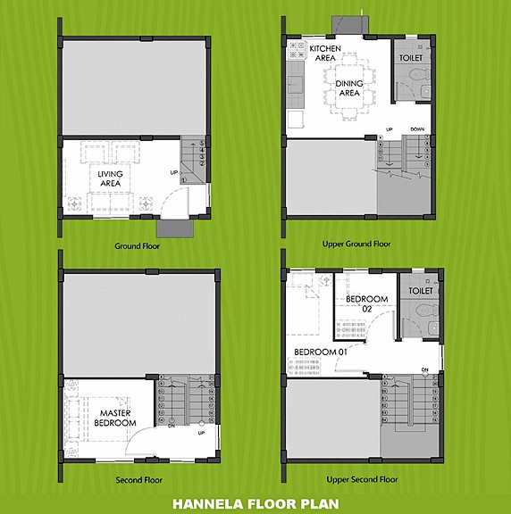 Hannela Floor Plan House and Lot in Tacloban