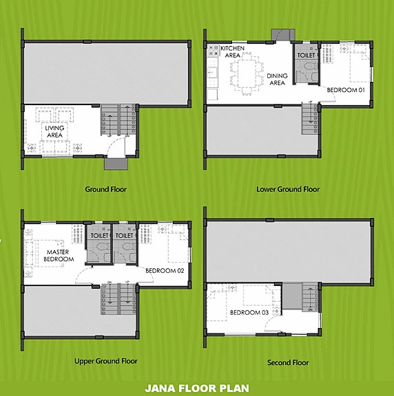 Janna Floor Plan House and Lot in Tacloban
