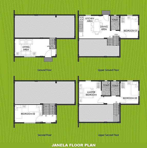 Janela Floor Plan House and Lot in Tacloban