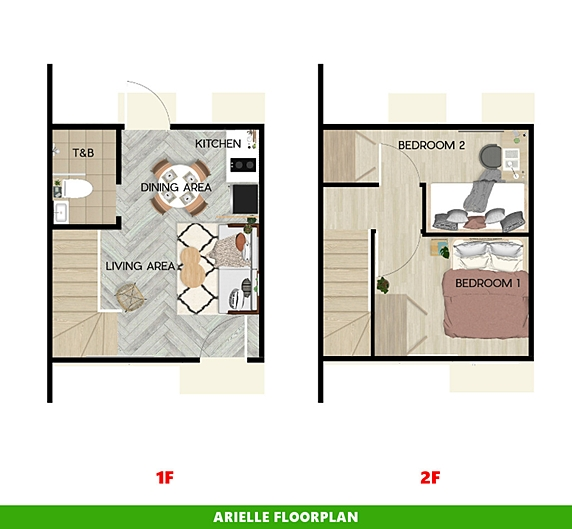 Arielle Floor Plan House and Lot in Tacloban