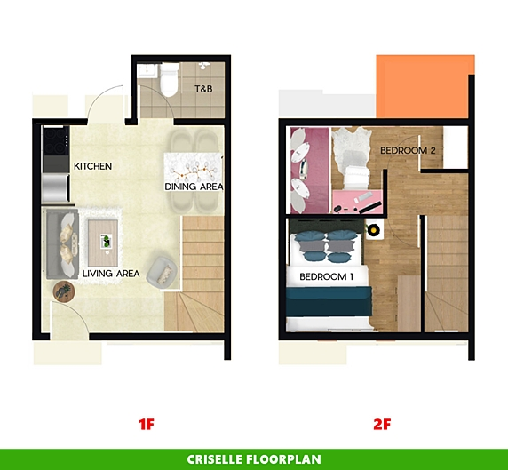 Criselle Floor Plan House and Lot in Tacloban