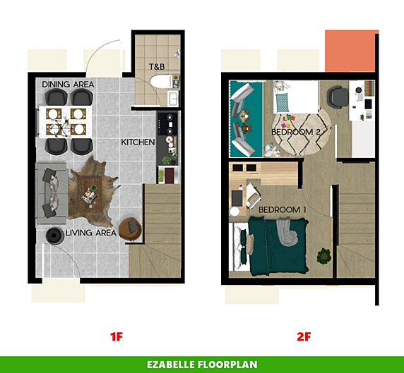Ezabelle Floor Plan House and Lot in Tacloban